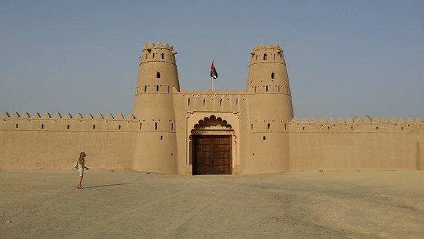 Al Ain, Uae, Castle, Oasis