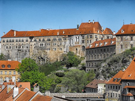 Cesky Krumlov, Czech Republic, City, Buildings, Urban