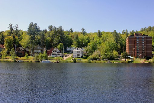 Saranac Lake, Lake, Nature, Usa, New York