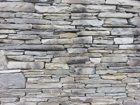 Flagstone, Wall, Stone, Back, Pattern, Texture