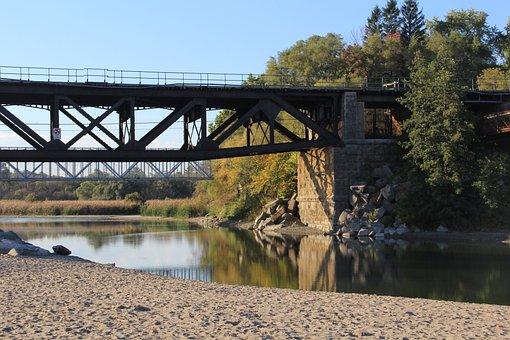Bridge, Landscape, Wallpaper, Summer, Beach, Rail Road