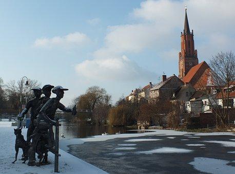 Rathenow, Winter, Schleusenspucker