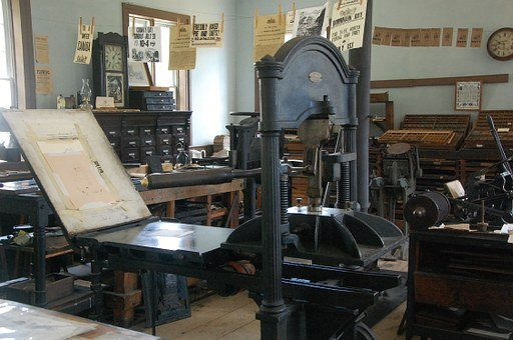 News, Press, Room, Antique, History, Vintage, Media