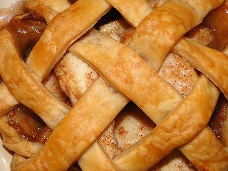 Pie, Crust, Lattice, Flaky, Macro, Crispy, Apple Pie