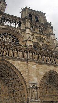 Notredam, Architecture, Cathedral, Church, Facade