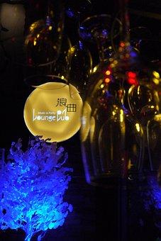 Lounge, Bar, Wine Glasses, Signs