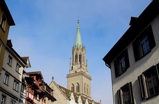 City, Old Town, Homes, Steeple, Basilica, St Laurenzen