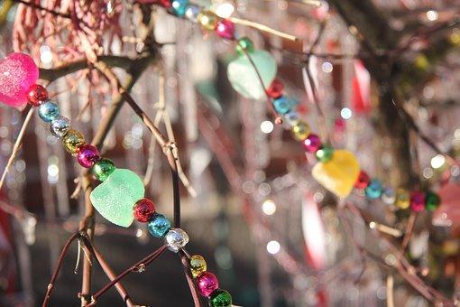 Winter, Beads, Diy, Decoration, Xmas, Christmas