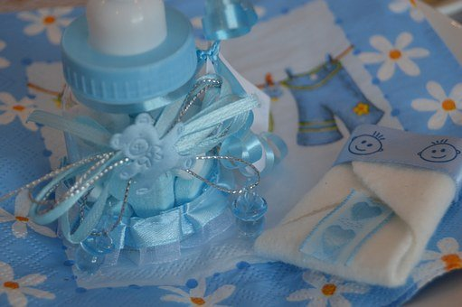 Bottle, Teat, Baby, Blue, Boy, Gift, Child, Pacifier