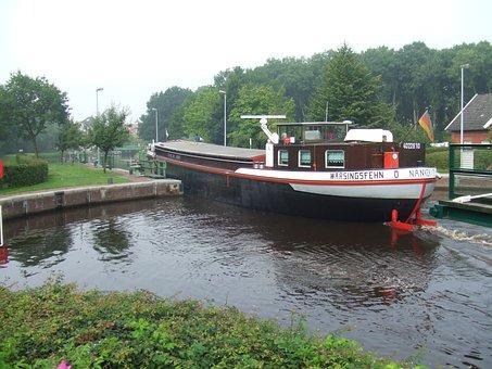 Boiler Sluice, Emden, Lower Saxony, Locking