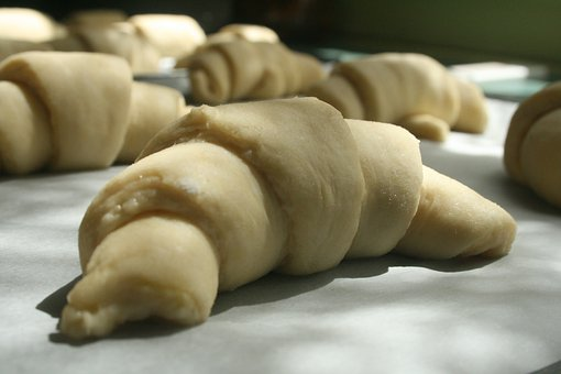 Croissants, Rolls, Cressent, Pastry, Bread, Soft, Flaky