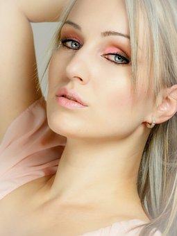 Portrait, Face, Pink, Blond, Blondie, Looking