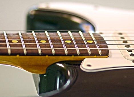Electric Guitar, Guitar, Fender, Strings, Macro
