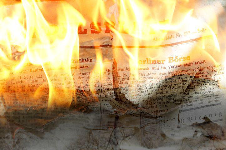 Newspaper, Daily Newspaper, Paper, Font, Fire, Burn