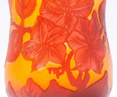 Vase, Glass, émile Gallé, Art Nouveau, Glass Art
