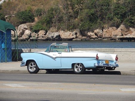 Cuba, Auto, Walk, Old, Havana, Car, Antique Car