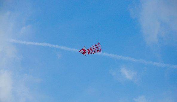 Kite, Red, Jet, Stream, Jetstream