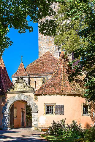 Rothenburg Of The Deaf, Bastei, City Gate, Middle Ages