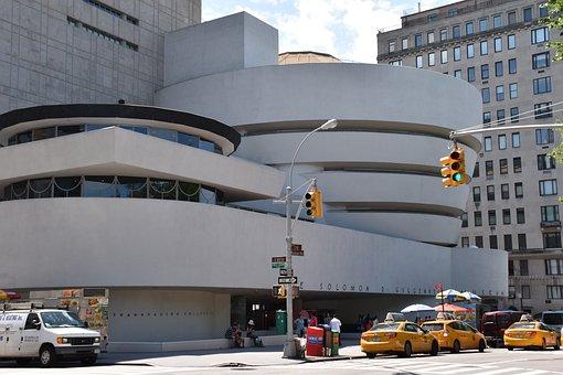 Guggenheim Museum, New York, Museum, City, Famous