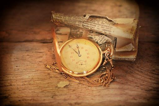 Pocket Watch, Clock, Clock Face, Jewellery, Newspaper