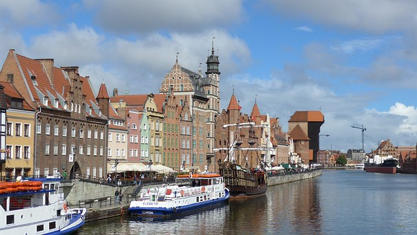 Gdańsk, Poland, Gdansk, Old Port, Motława River