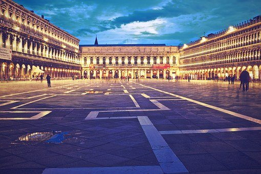 Piazza San Marco, Venice, Italy, Square, People