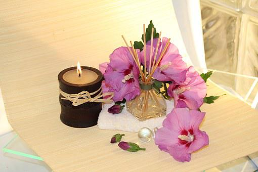 Wellness, Fragrance, Candle, Blossom, Bloom, Pink