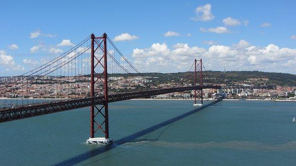 Bridge, Lisbon, Suspension Bridge, Ponte 25 De Abril