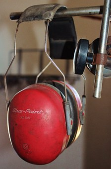 Hearing Protection, Ear Defenders, Workshop, Red, Craft