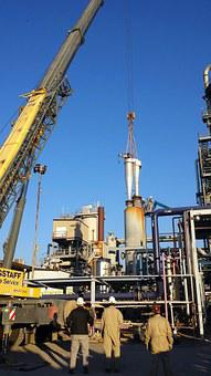 Oil Rig, Industry, Refinery, Rig, Refine, Construction
