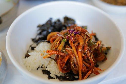 Bob, Lunch, Korean Food, Rice, Dining Room