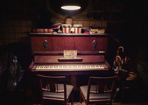 Piano, Home, Dark, Grunge, Music, Instrument, Room