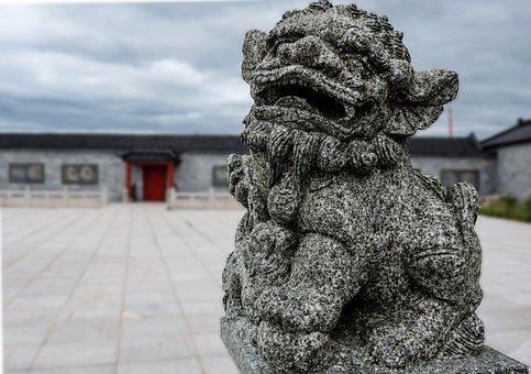 Stone, Monster, Sculpture, Statue, Sky, Travel, Fantasy