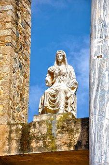Monument, Merida, Goddess, Sculpture, Statue