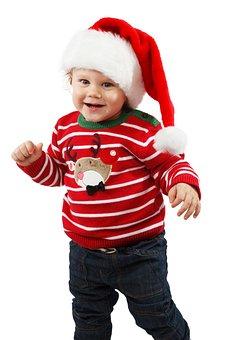 Smiling, Little, Santa Claus, Celebration, Child
