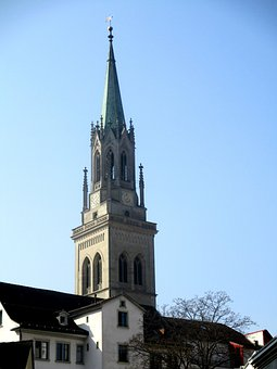 Architecture, Church Of St Laurenzen, Steeple, Spire