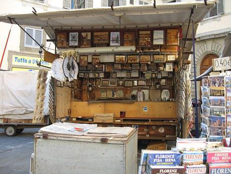 Florence, Italy, Street Sale, Pictures, Magazines