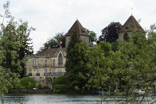 Gottlieben, Lake Constance, Switzerland, Bank, Water