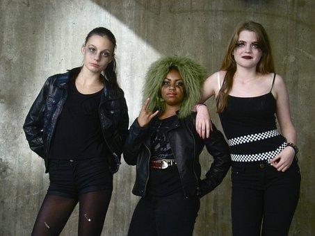 Teenage Girls, Urban Adolescents, Portrait
