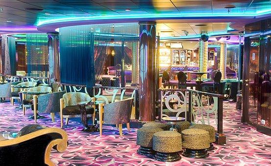 Bar, Furniture, Interior, Retro, Vintage, Colorful