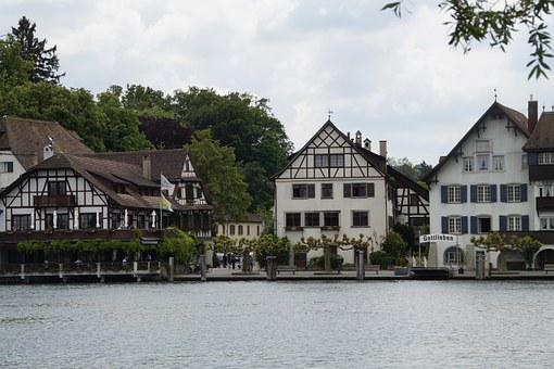 Gottlieben, Lake Constance, Switzerland, Bank, Water