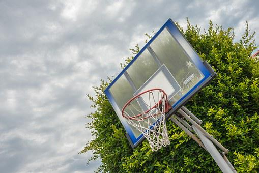 Basketball Ring, Clouds, Activity, Basketball, Hoop