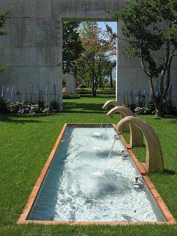 Rapperswil, Garden, Water Feature, Water, Art