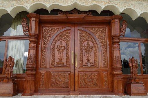 Ornate Door, Wooden, Carved, Art Of Living