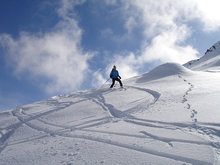 Backcountry Skiiing, Departure, Ski Touring, Skiing