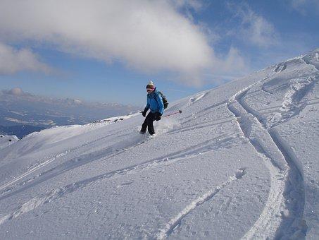 Skiing, Backcountry Skiiing, Departure, Ski Touring