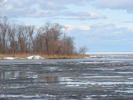 Ice, Lake, Mille, Lacs, Minnesota, Blue, Water