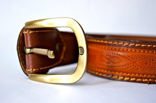 Belts, Leather, Buckle, Metal, Brass, Seam, Sew
