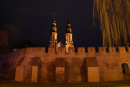 Opole, The Cathedral, Cathedral Opole, Photo Night
