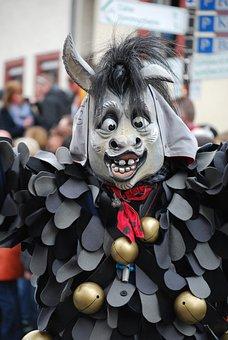 Donkey, Parade, Mask, Carnival, Shrovetide, Germany